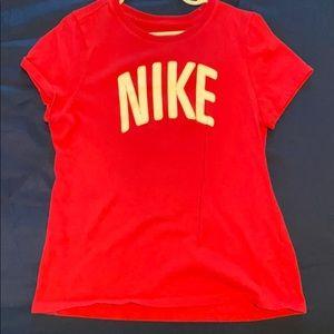 Girl Nike shirt